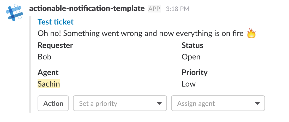 Actionable notifications, illustrated