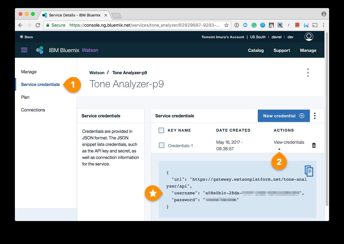 Bluemix Tone Analyzer