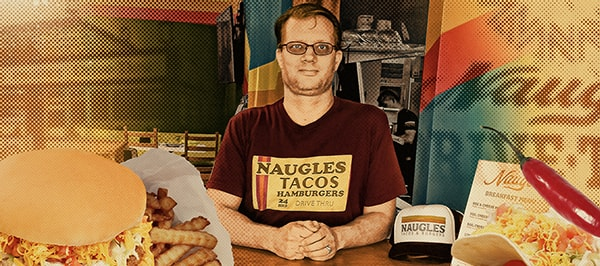 Christian Ziebarth, founder of the Naugles reboot, at the Naugles test kitchen location in Huntington Beach, California.