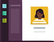 An illustration of the Slack client