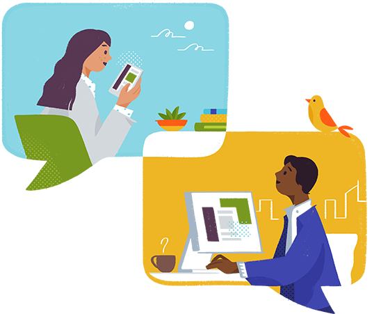 Slack helps people stay in sync with a range of desktop and mobile apps, no matter where you go.