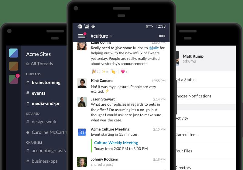 Screenshot Of The Slack