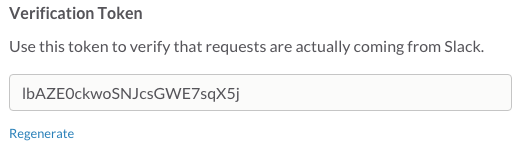 The verification codes used by slash commands and message buttons